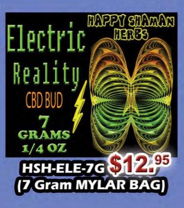 ELECTRIC REALITY bud 7 gram MYLAR BAG