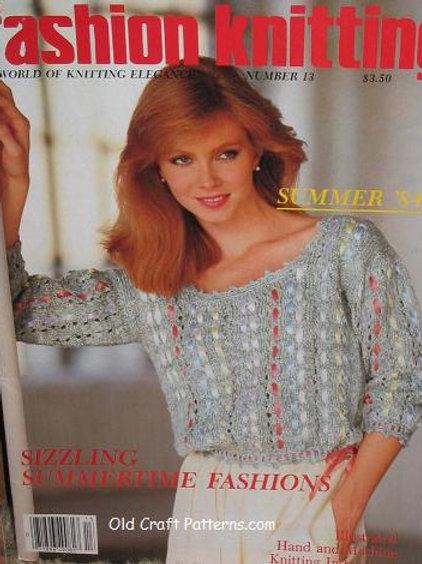 Fashion Knitting 13. Summertime Fashions - Tops Sweaters Knitting Patterns
