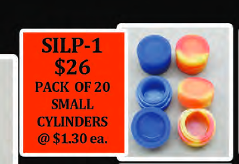 PACK OF 20 small SILICONE cylinders