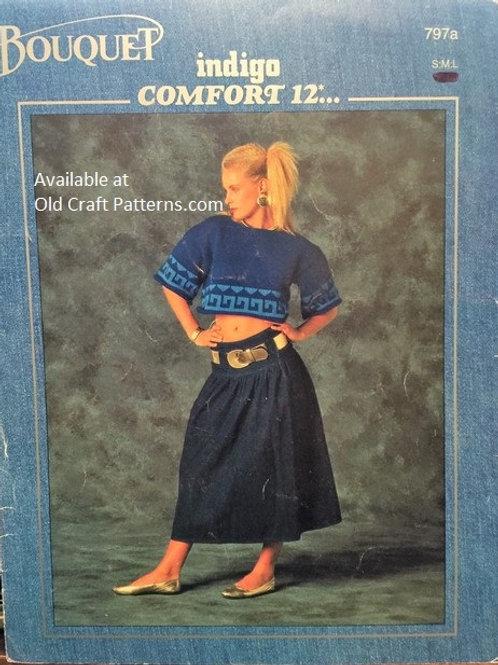 Bouquet 797. Crop Top, Polo & Denim Sweater Knitting Patterns
