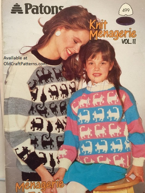 Patons 499. Knit Menagerie Vol. 2 - Family Knitting Patterns