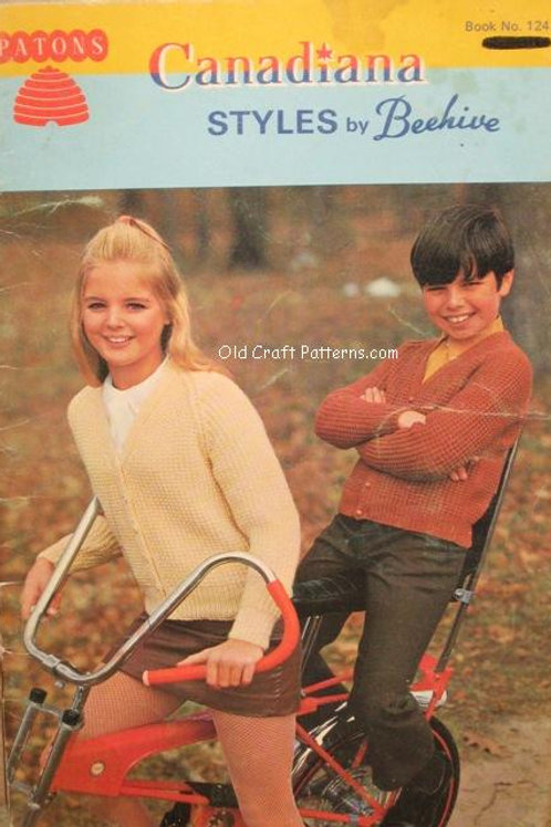 Patons 124. Canadiana Styles - Men Ladies Childrens Sweaters Knitting Patterns