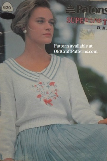 Patons 620. Supersoft D.K. Ladies Sweaters Knitting Patterns