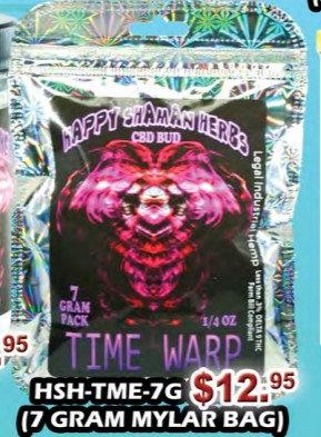 TIME WARP bud 7gram Mylar bag