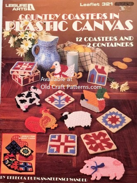 Leisure Arts 321. Country Coasters in Plastic Canvas Patterns