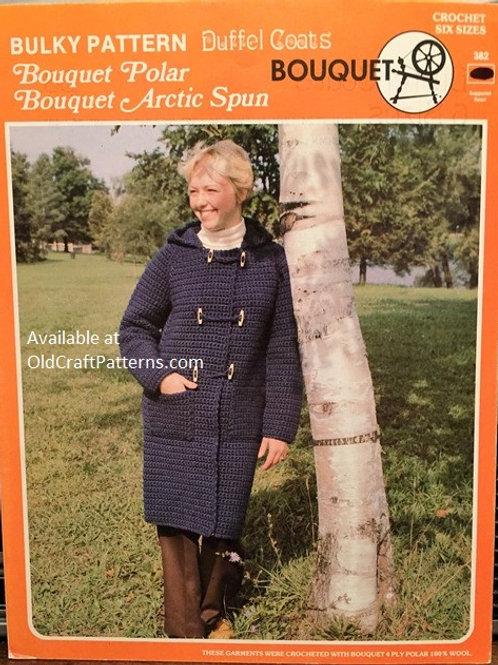 Bouquet 382. Duffle Coats Crochet Patterns