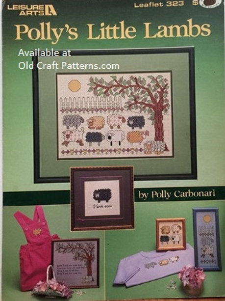 Leisure Arts 323. Polly's Little Lambs - Cross Stitch Charts