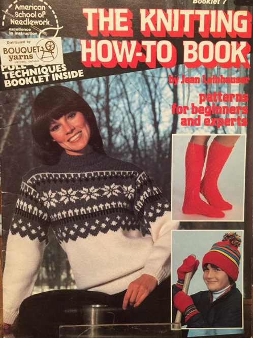 American School 7. Knitting How To Book Beginner to Experts Patterns