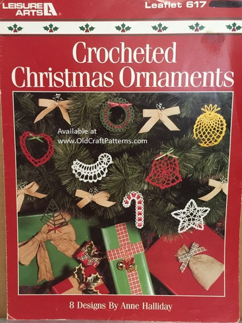 Leisure Arts 617. Crocheted Christmas Ornaments - 8 Designs Patterns