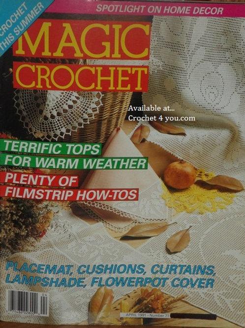Magic Crochet 71. Crocheted Cushion Curtains Home Decor Patterns