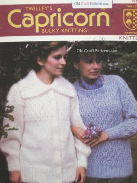 Twilleys 6312. Cardigan Jacket & Pullover Sweater Knitting Patterns