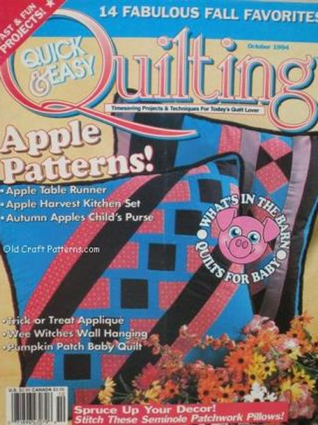 608. Quick & Easy Quilting 14 Fall Favorites - Quilts Wall Hanging Patterns