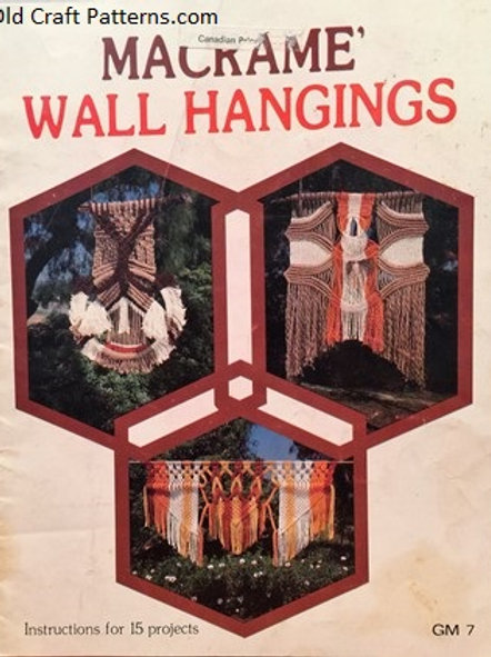 GM 7. Macrame Wall Hangings - 15 Projects Patterns