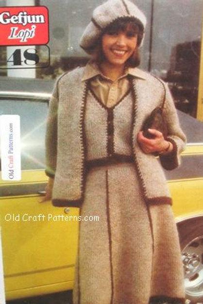 Samband of Iceland - Gefjun Lopi 48. Ladies Suit Knitting Pattern