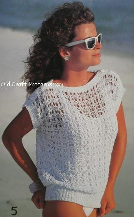 Patons 484 Cotton Tops Ladies Summer Sweaters Knitting Patterns