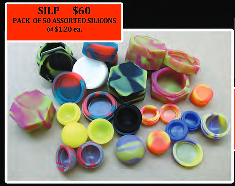 PACK OF 50 SILICONE CONTAINER