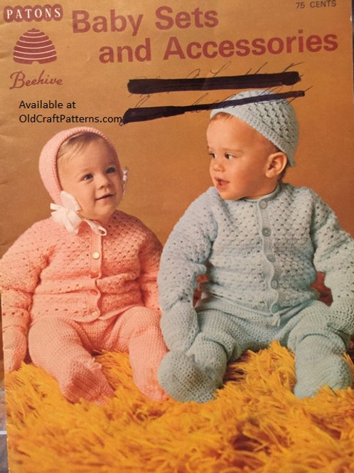 Patons 4. Baby Sets and Accessories - Crochet & Knitting Patterns