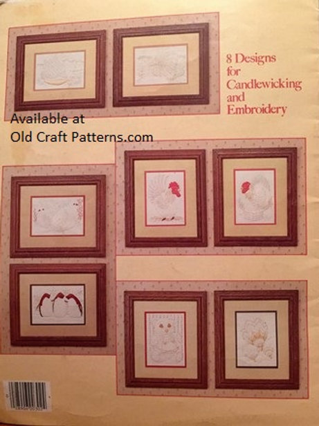 Leisure Arts 302. Candlewicking by Roger W. Reinardy with 8 Iron On Transfers