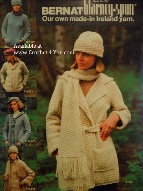 Bernat 227 Sweaters Jackets Hats Knitting Patterns