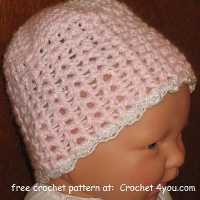 Free Crochet Pattern for Baby Pull-on Hat