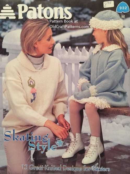 Patons 932. Skating Style - 13 Knitted Designs Knitting Patterns