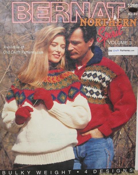 d4424980013137 Bernat 1266 Northern Spirit Vol 3 Sweaters Knitting Patterns ...