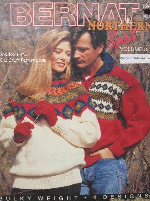 Bernat 1266 Northern Spirit Vol 3 His Hers Sweaters Knitting Patterns