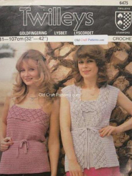Twilley's 6475. Crocheted Twin Set - Top with matching Jacket - Crochet Patterns