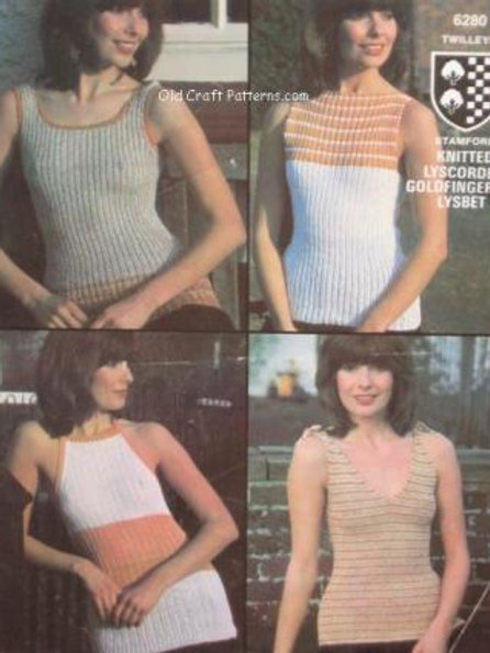 Twilleys 6280. Four Cool Knitted Ladies Tops - Knitting Patterns
