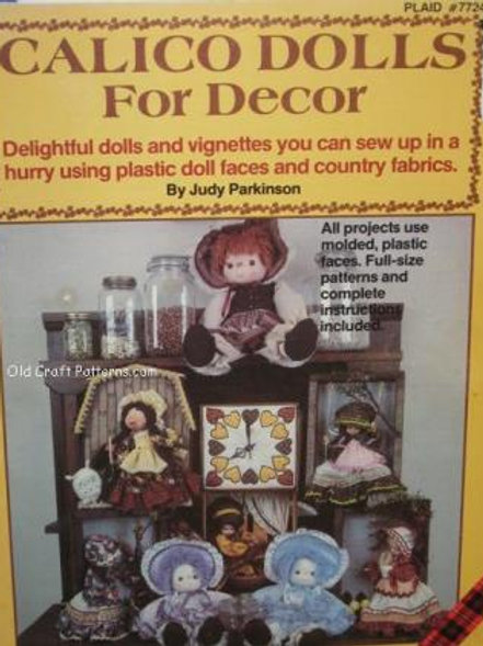 Plaid 7724. Calico Dolls for Decor - Sewing Patterns