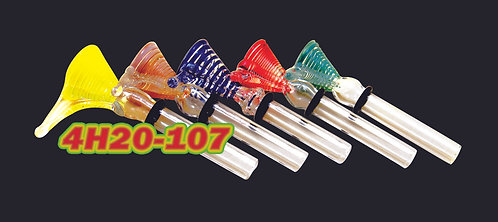 9mm Ridged Colored bowl with handle 4H20-107