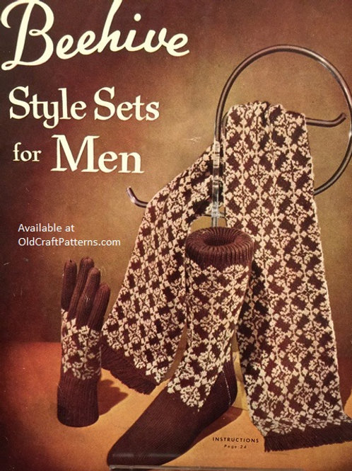 Patons 48. Beehive Style Sets for Men - Knitting Patterns