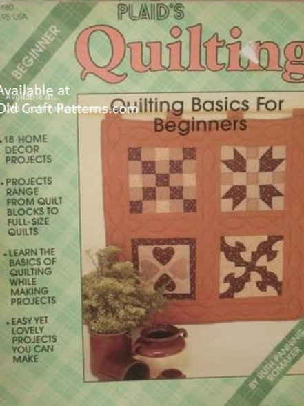 Plaids 8180. Quilting Basics for Beginners - 18 Home Decor Projects Patterns