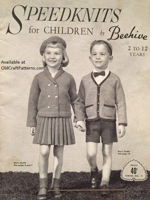 Patons 71 Speedknits for Children 2 to 12 Years by Beehive