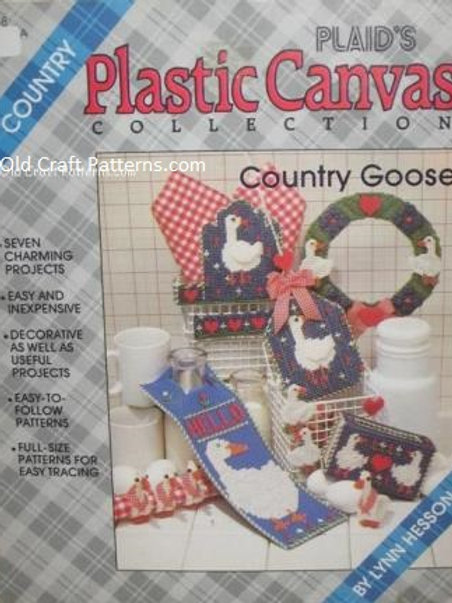Plaid 8158. Country Goose Collection - Plastic Canvas Patterns