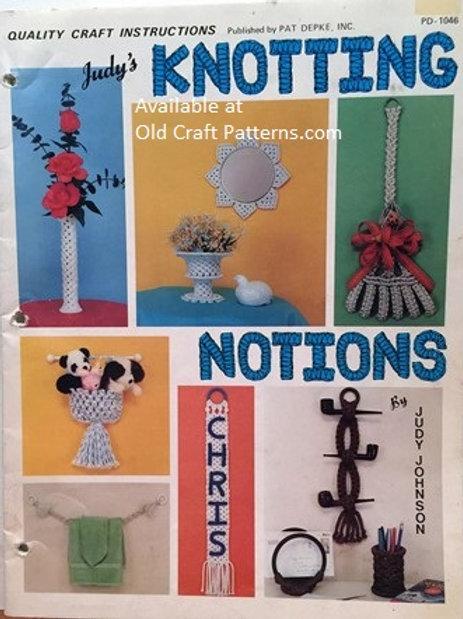 Pat Depke 1046. Judy's Knotting Notions - Home & Christmas Decor