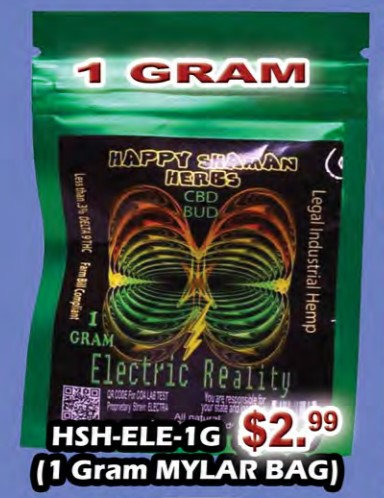 ELECTRIC REALITY bud 1 gram MYLAR BAG