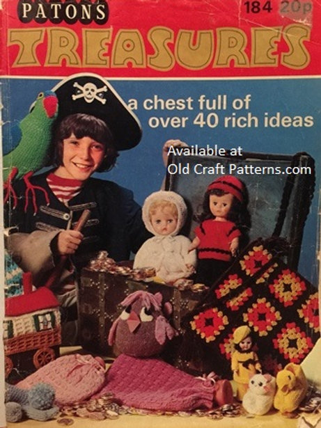 Patons 184. Treasures - 40 Crochet Knitting Patterns Toys Dolls Baby Home Decor