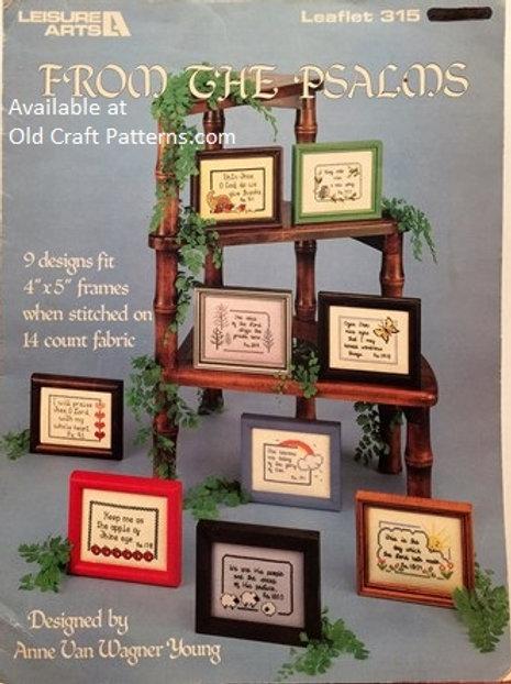 Leisure Arts 315. From The Psalms - Cross Stitch & Needlework Charts