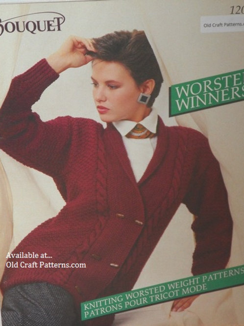 Bouquet 1203. Worsted Winners - Sweaters Knitting Patterns