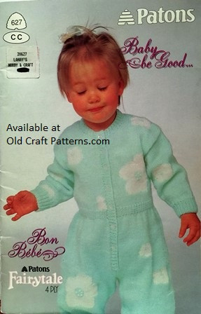 Patons 627 Baby Be Good Onesie Sweaters Pants Hats Knitting