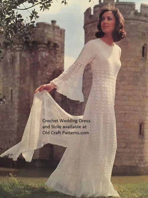 Patons 77 Fashion Knits - Wedding Dress Stole and Top Crochet Pat