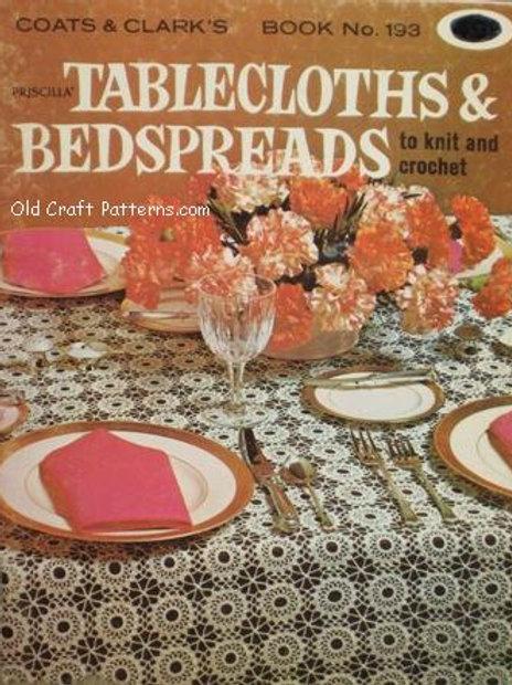 Coats & Clark's 193. Tablecloths & Bedspreads Knit and Crochet Patterns