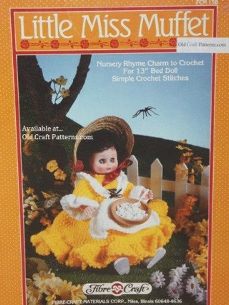 Fibre Craft 158. Little Miss Muffet Doll Clothes - Crochet Patterns