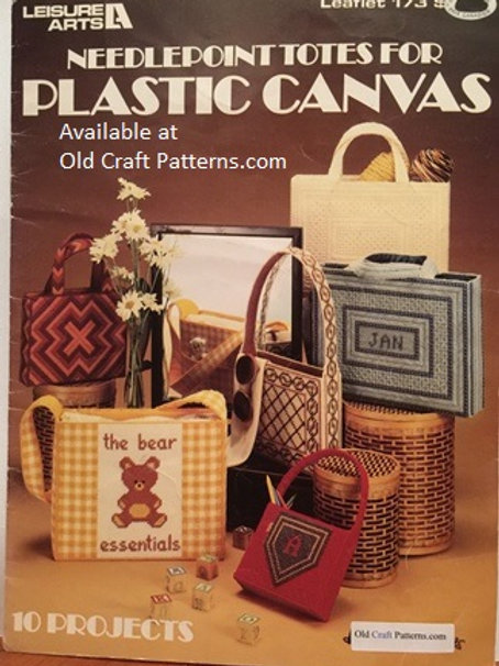 Leisure Arts 173. Needlepoint Totes for Plastic Canvas Charts