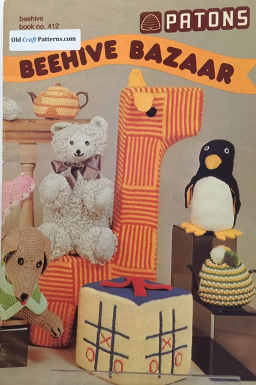 Patons 412. Beehive Bazar - Knitting and Crochet Patterns