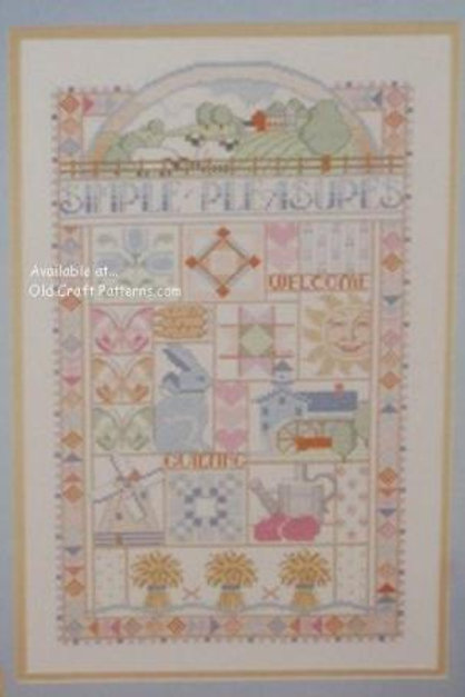 Dimensions 148. Simple Pleasures by Nancy Rossi - Cross Stitch Patterns
