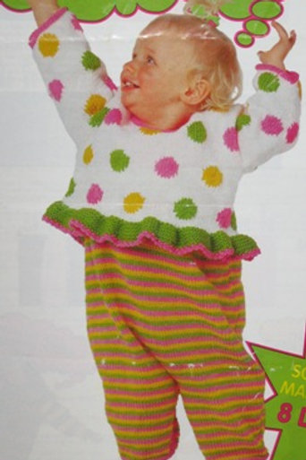 Bouquet 1252. Toddler Bouquet 1252. Baby Sweater & Overalls Knitting Patterns