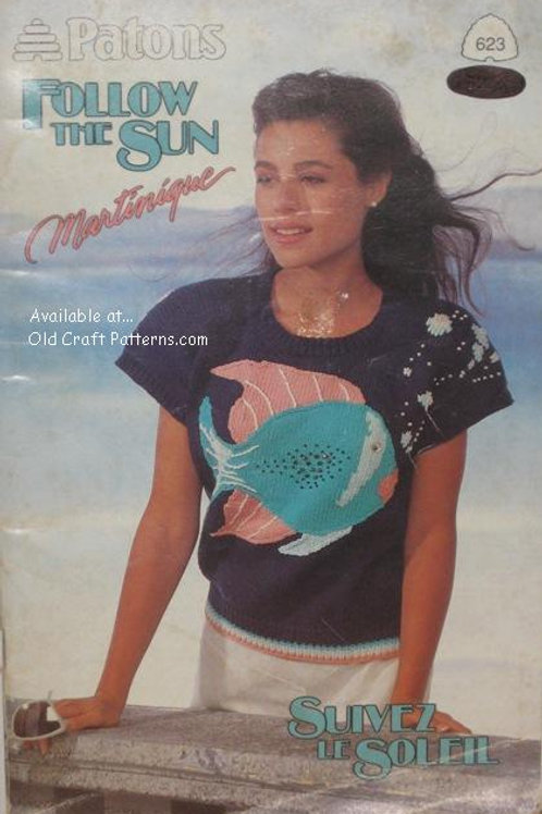 Patons 623. Follow the Sun - Ladies Knitting Patterns for Tops
