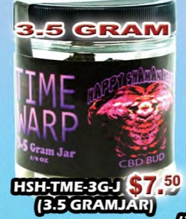 TIME WARP bud 3.5gram jar